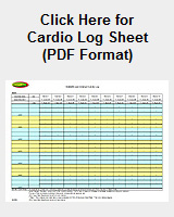 Picture and Link to Cardio Log Sheet